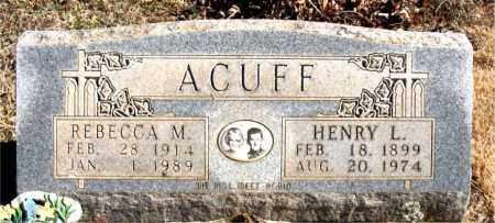 ACUFF, REBECCA M. - Newton County, Arkansas | REBECCA M. ACUFF - Arkansas Gravestone Photos