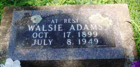 ADAMS, WALSIE SYMANTHA - Newton County, Arkansas | WALSIE SYMANTHA ADAMS - Arkansas Gravestone Photos