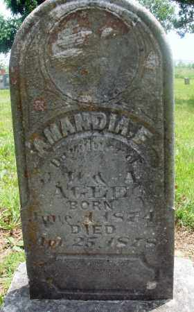AGEE, AMANDIA F - Newton County, Arkansas | AMANDIA F AGEE - Arkansas Gravestone Photos