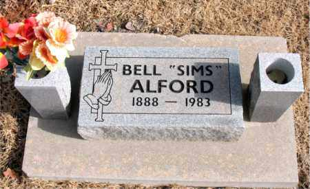 SIMS ALFORD, BELL - Newton County, Arkansas | BELL SIMS ALFORD - Arkansas Gravestone Photos