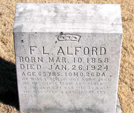 ALFORD, F. L. - Newton County, Arkansas | F. L. ALFORD - Arkansas Gravestone Photos