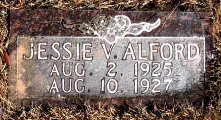 ALFORD, JESSIE V. - Newton County, Arkansas | JESSIE V. ALFORD - Arkansas Gravestone Photos
