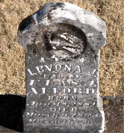ALFORD, LUVONA J. - Newton County, Arkansas | LUVONA J. ALFORD - Arkansas Gravestone Photos