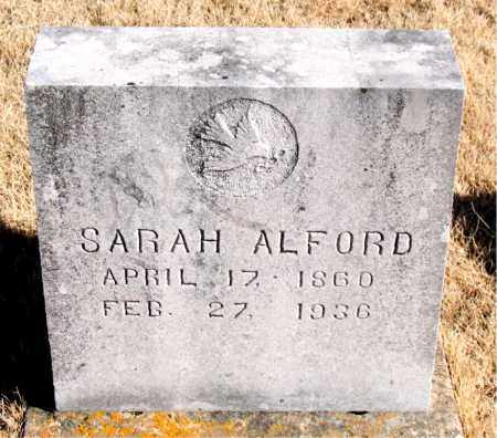 ALFORD, SARAH - Newton County, Arkansas | SARAH ALFORD - Arkansas Gravestone Photos