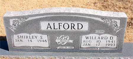 ALFORD, WILLARD D. - Newton County, Arkansas | WILLARD D. ALFORD - Arkansas Gravestone Photos