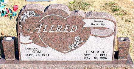ALLRED, ELMER D. - Newton County, Arkansas | ELMER D. ALLRED - Arkansas Gravestone Photos