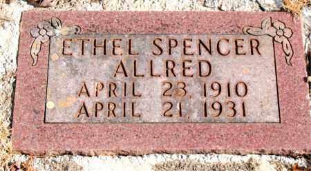 SPENCER ALLRED, ETHEL - Newton County, Arkansas | ETHEL SPENCER ALLRED - Arkansas Gravestone Photos
