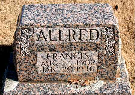 ALLRED, FRANCIS - Newton County, Arkansas | FRANCIS ALLRED - Arkansas Gravestone Photos