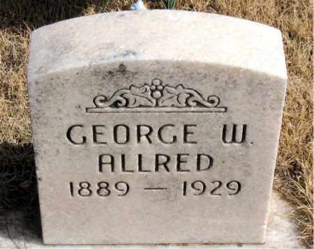 ALLRED, GEORGE W. - Newton County, Arkansas | GEORGE W. ALLRED - Arkansas Gravestone Photos