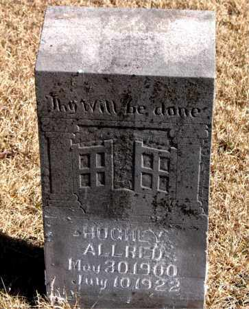ALLRED, HUGHEY - Newton County, Arkansas | HUGHEY ALLRED - Arkansas Gravestone Photos
