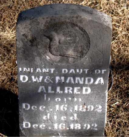 ALLRED, INFANT DAUGHTER - Newton County, Arkansas | INFANT DAUGHTER ALLRED - Arkansas Gravestone Photos