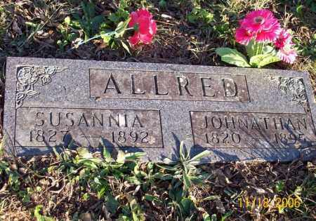 ALLRED, SUSANNA - Newton County, Arkansas | SUSANNA ALLRED - Arkansas Gravestone Photos
