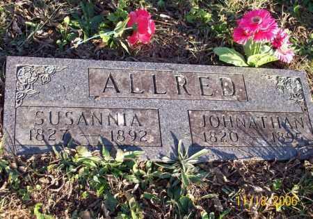 ALLRED, JONATHAN WESLEY - Newton County, Arkansas | JONATHAN WESLEY ALLRED - Arkansas Gravestone Photos
