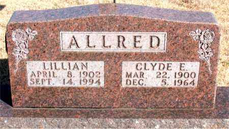 ALLRED, CLYDE E. - Newton County, Arkansas | CLYDE E. ALLRED - Arkansas Gravestone Photos