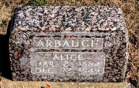 ARBAUGH, ALICE - Newton County, Arkansas | ALICE ARBAUGH - Arkansas Gravestone Photos