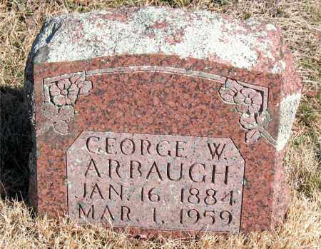 ARBAUGH, GEORGE W. - Newton County, Arkansas | GEORGE W. ARBAUGH - Arkansas Gravestone Photos