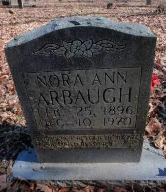 ARBAUGH, NORA ANN - Newton County, Arkansas | NORA ANN ARBAUGH - Arkansas Gravestone Photos
