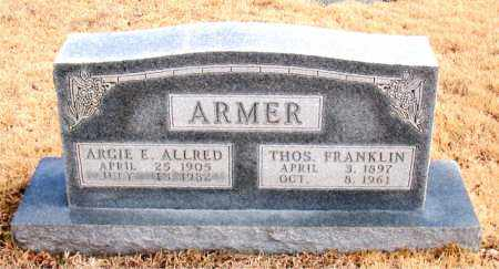 ARMER (VETERAN WWI), THOMAS FRANKLIN - Newton County, Arkansas | THOMAS FRANKLIN ARMER (VETERAN WWI) - Arkansas Gravestone Photos