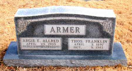 ALLRED ARMER, ARGIE E. - Newton County, Arkansas | ARGIE E. ALLRED ARMER - Arkansas Gravestone Photos