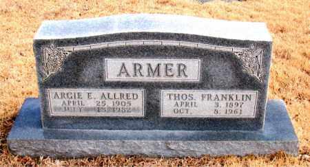 ARMER, THOMAS FRANKLIN - Newton County, Arkansas | THOMAS FRANKLIN ARMER - Arkansas Gravestone Photos