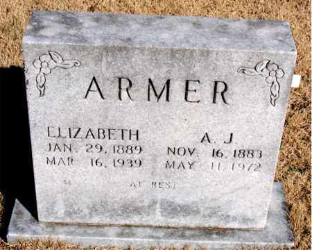 ARMER, ELIZABETH - Newton County, Arkansas | ELIZABETH ARMER - Arkansas Gravestone Photos