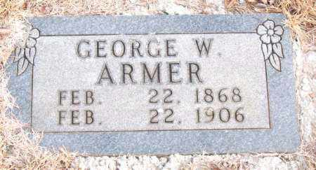ARMER, GEORGE W. - Newton County, Arkansas | GEORGE W. ARMER - Arkansas Gravestone Photos