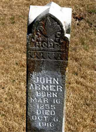 ARMER, JOHN - Newton County, Arkansas | JOHN ARMER - Arkansas Gravestone Photos
