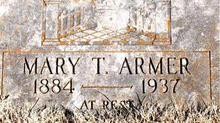 ARMER, MARY T. - Newton County, Arkansas | MARY T. ARMER - Arkansas Gravestone Photos