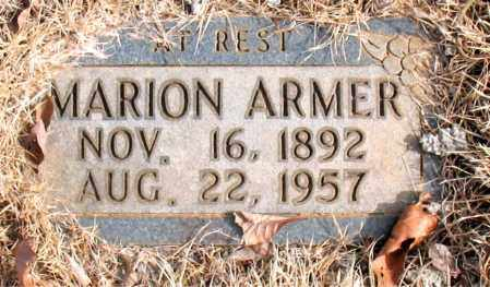 ARMER, MARION - Newton County, Arkansas | MARION ARMER - Arkansas Gravestone Photos