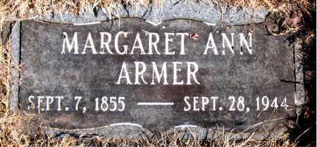 ARMER, MARGARET ANN - Newton County, Arkansas | MARGARET ANN ARMER - Arkansas Gravestone Photos