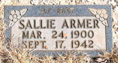 ARMER, SALLIE - Newton County, Arkansas | SALLIE ARMER - Arkansas Gravestone Photos