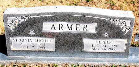ARMER, VIRGINIA LUCILLE - Newton County, Arkansas | VIRGINIA LUCILLE ARMER - Arkansas Gravestone Photos