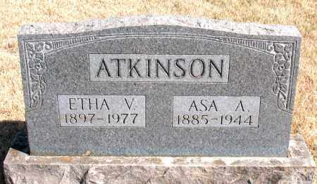 ATKINSON, ETHA V. - Newton County, Arkansas | ETHA V. ATKINSON - Arkansas Gravestone Photos