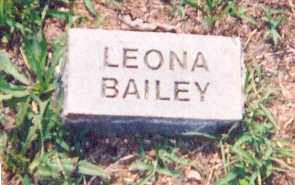 BAILEY, LEONA - Newton County, Arkansas | LEONA BAILEY - Arkansas Gravestone Photos