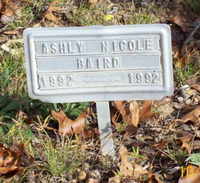 BAIRD, ASHLY NICOLE - Newton County, Arkansas | ASHLY NICOLE BAIRD - Arkansas Gravestone Photos