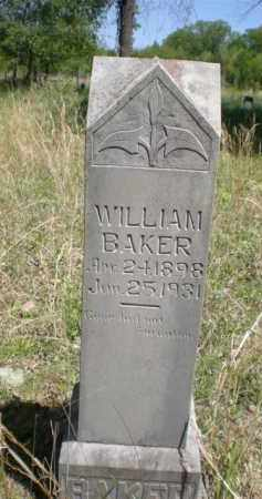 BAKER, WILLIAM - Newton County, Arkansas | WILLIAM BAKER - Arkansas Gravestone Photos