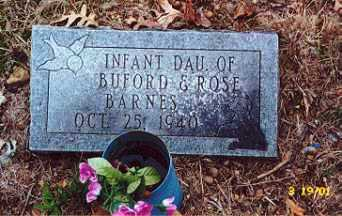 BARNES, INFANT DAUGHTER - Newton County, Arkansas | INFANT DAUGHTER BARNES - Arkansas Gravestone Photos