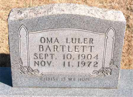 BARTLETT, OMA LULER - Newton County, Arkansas | OMA LULER BARTLETT - Arkansas Gravestone Photos