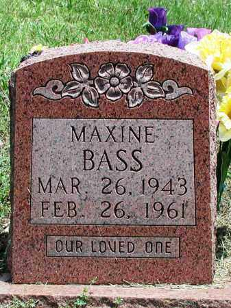BASS, MAXINE - Newton County, Arkansas | MAXINE BASS - Arkansas Gravestone Photos