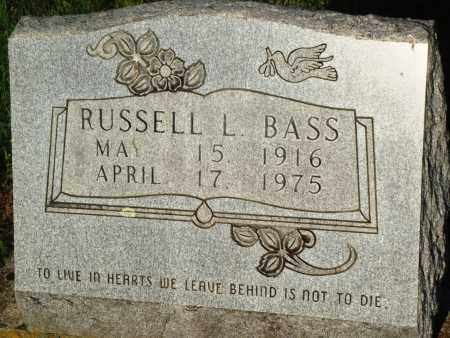 BASS, RUSSELL L - Newton County, Arkansas | RUSSELL L BASS - Arkansas Gravestone Photos
