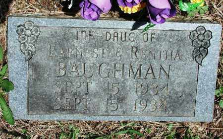 BAUGHMAN, INFANT DAUGHTER - Newton County, Arkansas | INFANT DAUGHTER BAUGHMAN - Arkansas Gravestone Photos