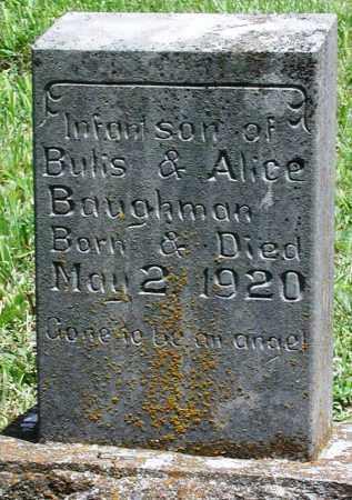 BAUGHMAN, INFANT SON - Newton County, Arkansas | INFANT SON BAUGHMAN - Arkansas Gravestone Photos