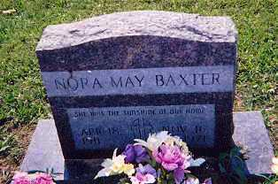 BAXTER, NORA MAY - Newton County, Arkansas | NORA MAY BAXTER - Arkansas Gravestone Photos
