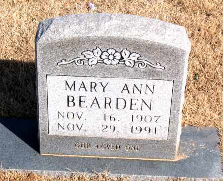 BEARDEN, MARY ANN - Newton County, Arkansas | MARY ANN BEARDEN - Arkansas Gravestone Photos