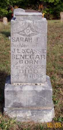 BENEGAR, SARAH F. - Newton County, Arkansas | SARAH F. BENEGAR - Arkansas Gravestone Photos