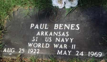 BENES (VETERAN WWII), PAUL - Newton County, Arkansas | PAUL BENES (VETERAN WWII) - Arkansas Gravestone Photos