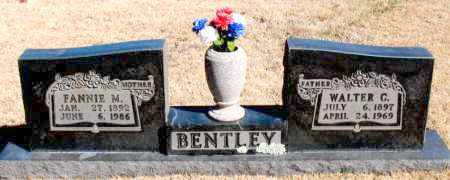 BENTLEY, FANNIE M. - Newton County, Arkansas | FANNIE M. BENTLEY - Arkansas Gravestone Photos