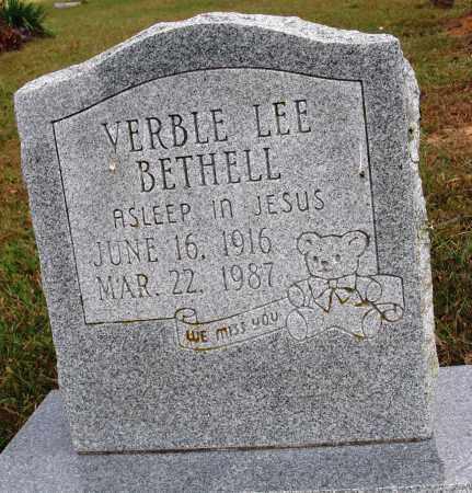 BETHELL, VERBLE LEE - Newton County, Arkansas | VERBLE LEE BETHELL - Arkansas Gravestone Photos