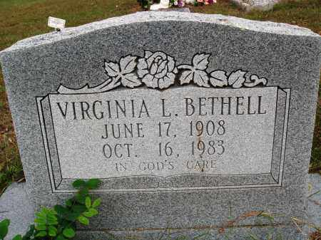BETHELL, VIRGINIA L. - Newton County, Arkansas | VIRGINIA L. BETHELL - Arkansas Gravestone Photos