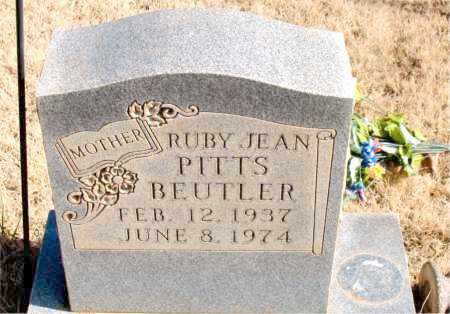 PITTS BEUTLER, RUBY JEAN - Newton County, Arkansas | RUBY JEAN PITTS BEUTLER - Arkansas Gravestone Photos